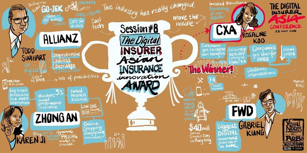 One of 10 visual notes produced during The Digital Insurer Asia 2016 conference
