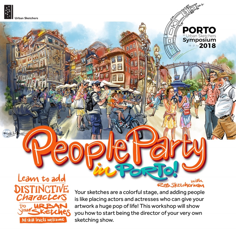 2018 Porto Symposium-People Party in Porto-Sketcherman.jpg