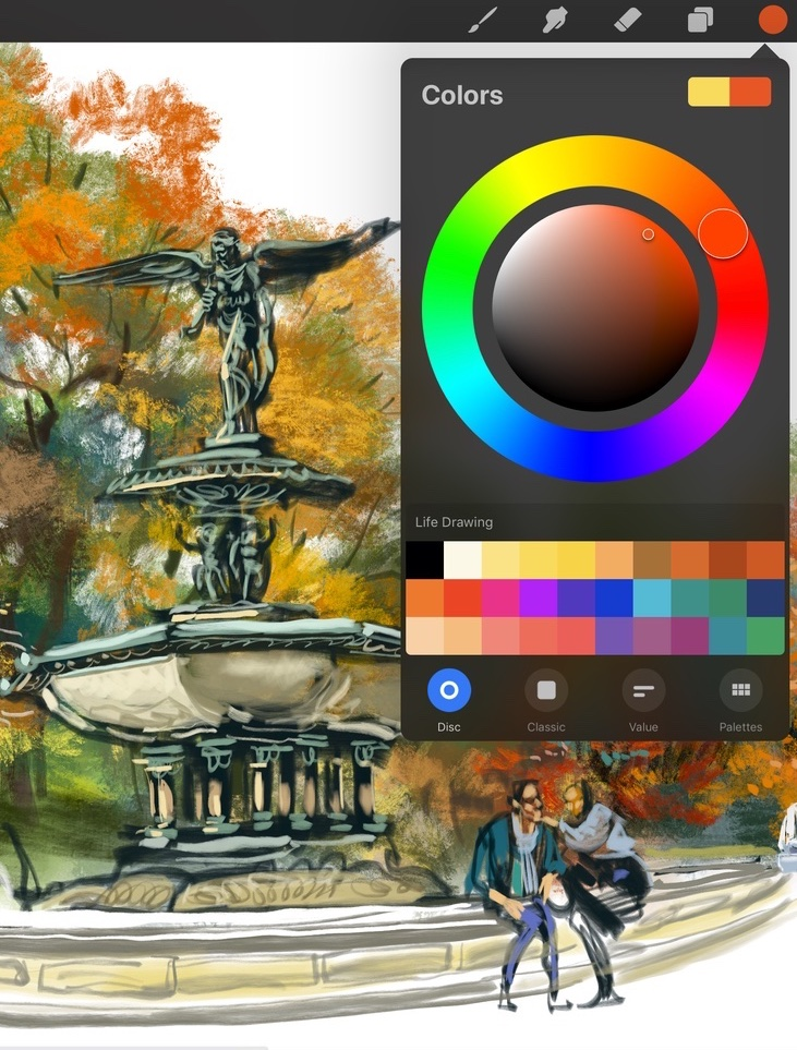 Learn how to mix colors and create your own palettes.