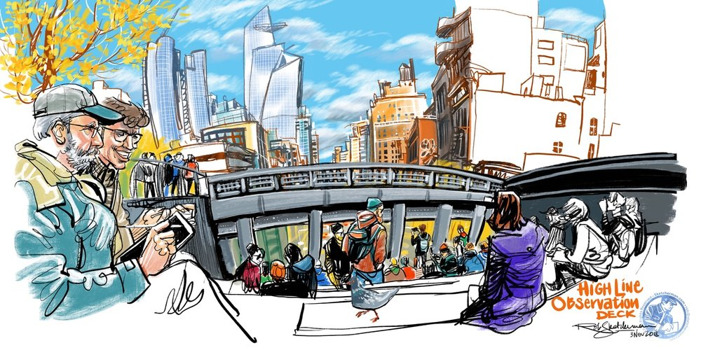 2018-NYC-20-High Line Observation Deck-color_Sketcherman.jpg