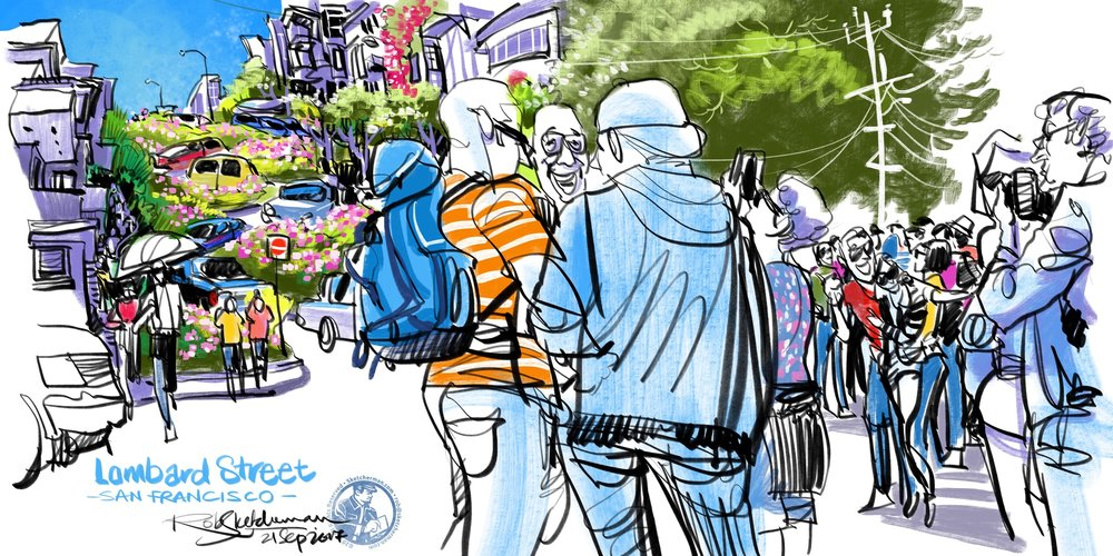 US_2017-Lombard St crowds-San Francisco-Sketcherman.jpg