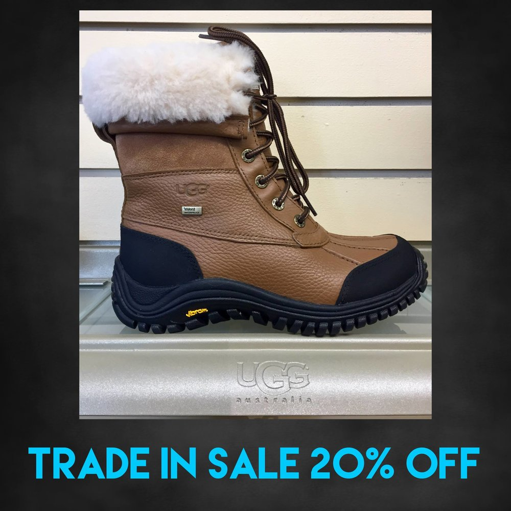 "IT'S HERE! Our 20% OFF all Winter boots and shoes SALE with the ""trade-in"" of your old pair. Just bring any old pair to receive the discount. All pairs brought in will be donated to a local charity. Starts Tuesday 1/2/18 and goes through Sunday 1/21/18. Open Mon-Sat 10-8, Sun 12-6. 607-272-7255. Easy parking, Cornell is on break!"