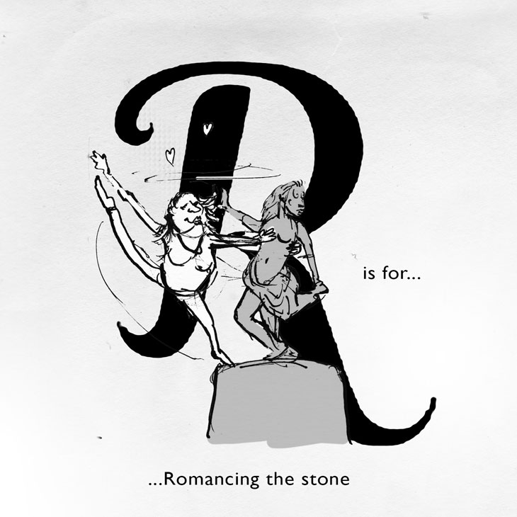 R is for alcohol free bar promotion sketch jonny glover illustration