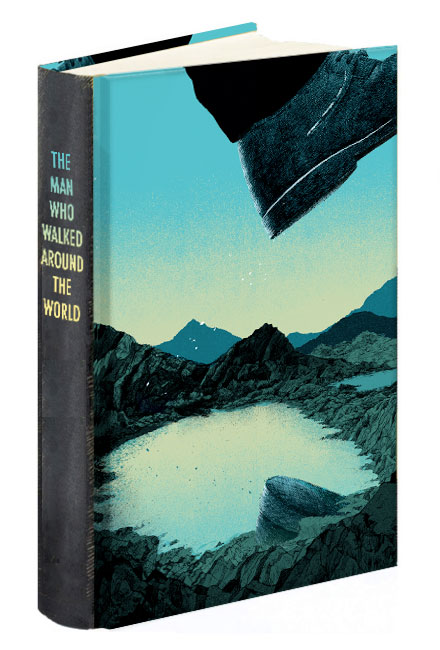 The man who walked around the world book cover jonny glover illustration