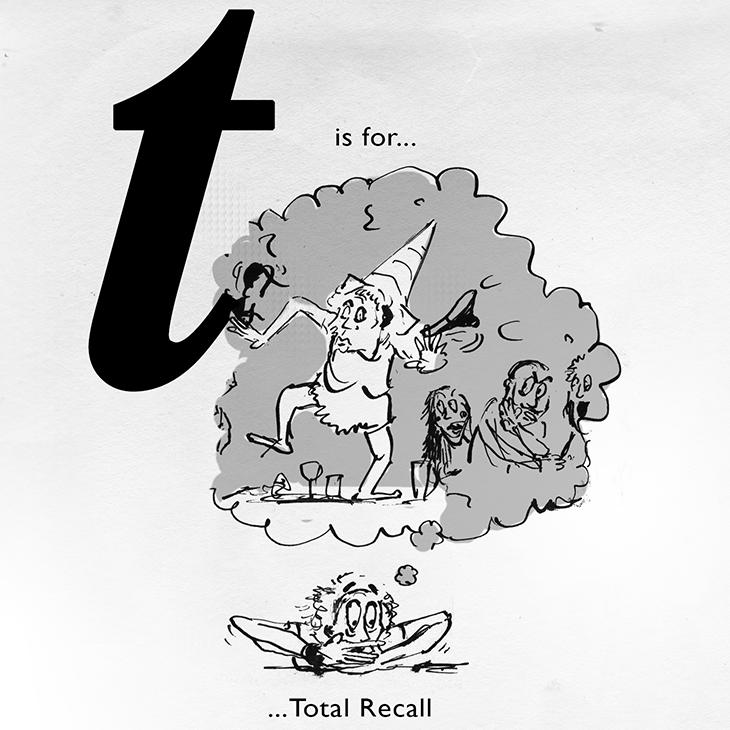 T is for alcohol free bar promotion sketch jonny glover illustration
