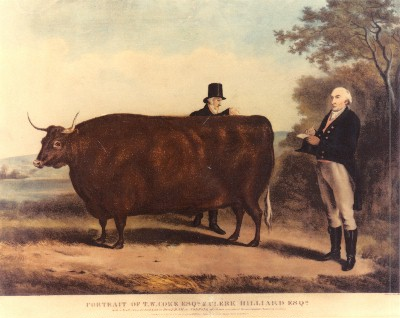 'A vogue developed for the 'agricultural conversation piece', where a farmer or landowner chose to be portrayed, not with his wife, children and dogs or horses, but with his livestock and farm employees.'