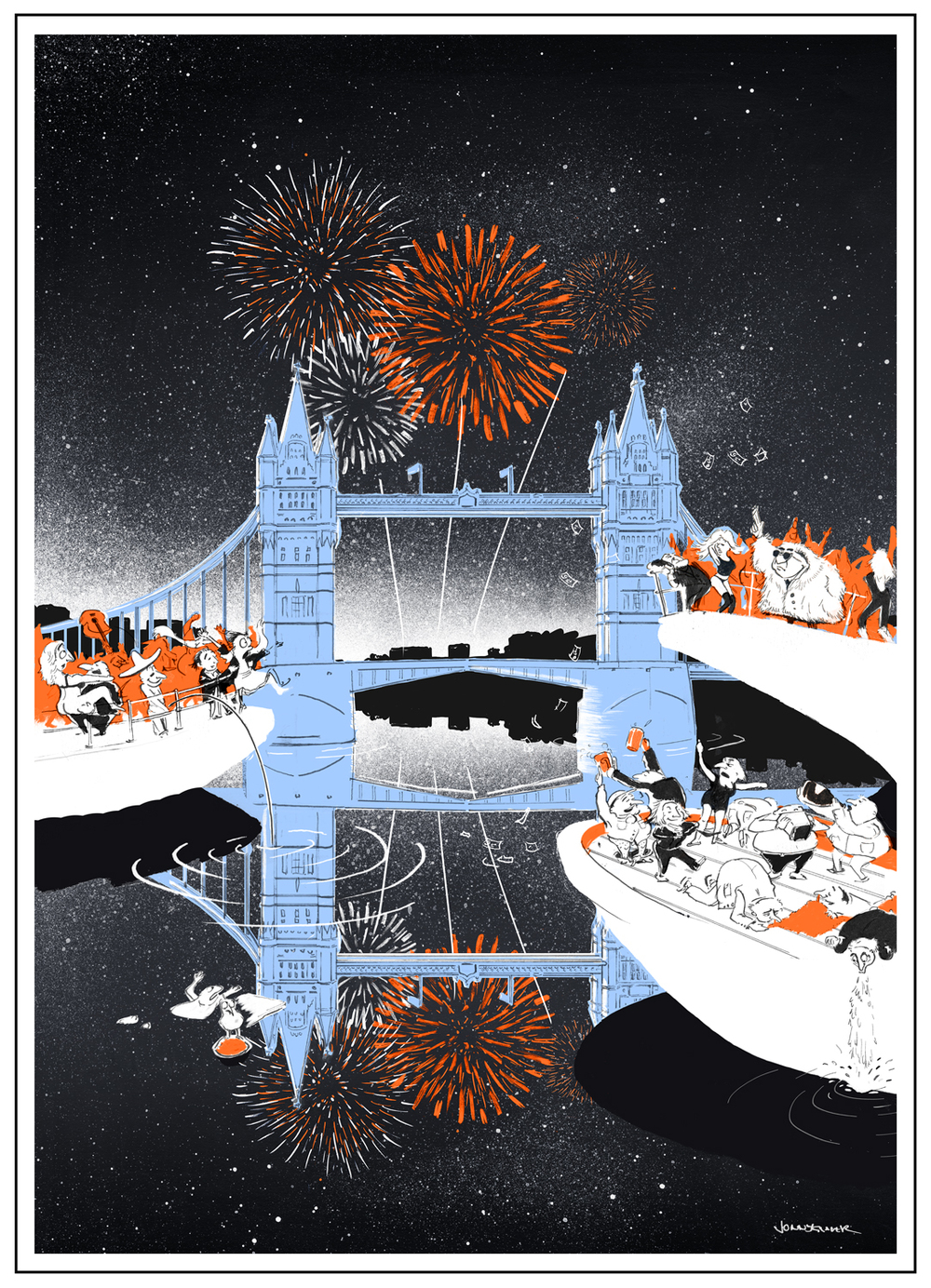 Happy New Year to you all! All the best for 2015 #London#illustration#NewYearsEve#Welcome2015