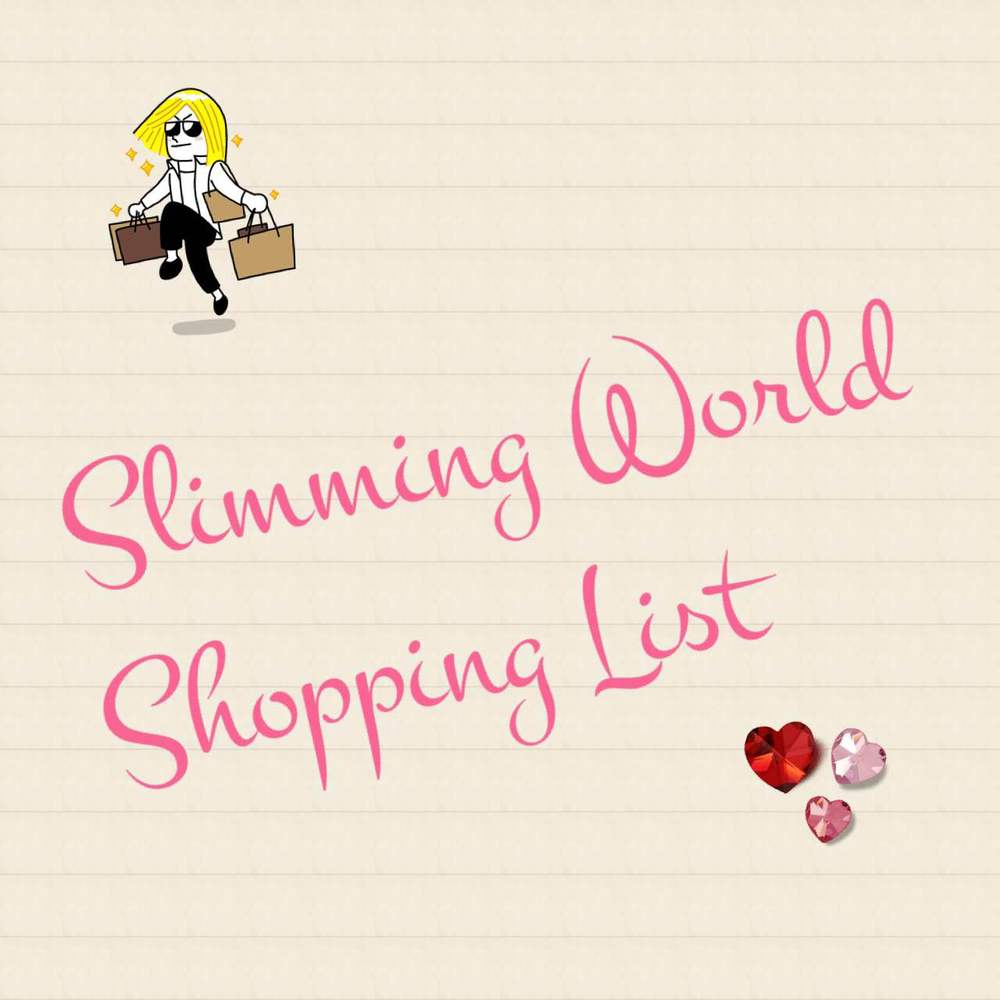 The ultimate printable generic slimming world shopping The slimming world