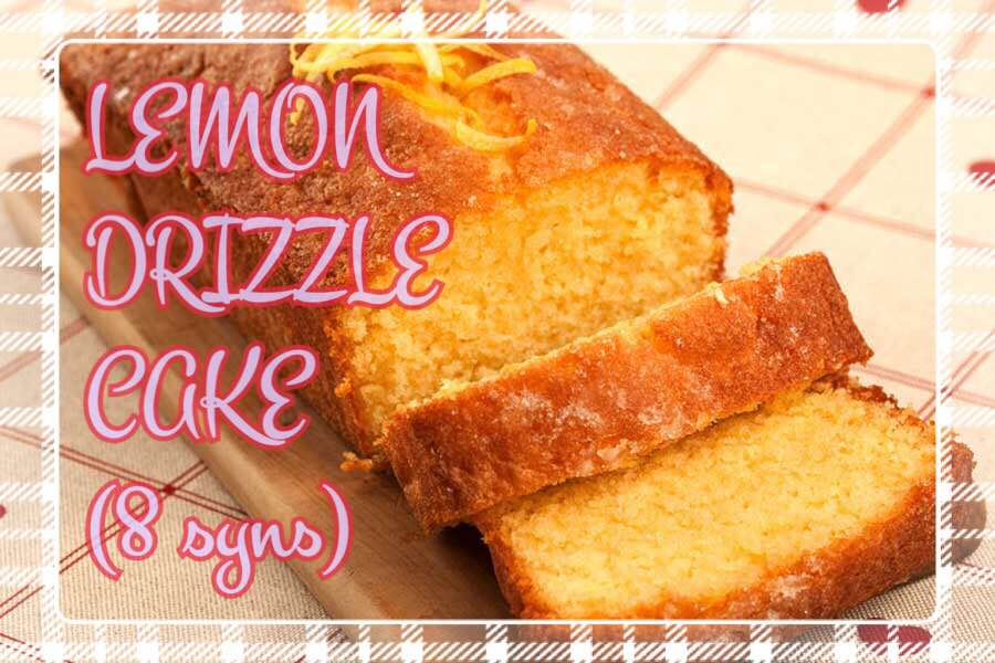 Slimming world lemon drizzle cake 8 syns in total Slimming world recipes for 1 person