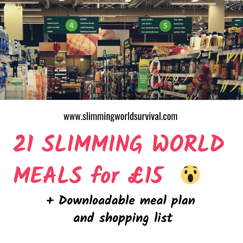 Tesco Slimming World Shop For 15 Includes Meal Plan With