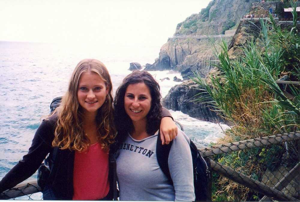 Backpacking in Italy in 2005 with one of my roommates.