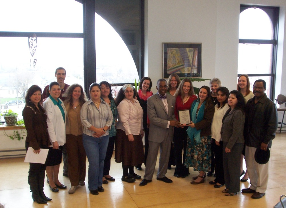 Proyecto Salud Health Promoters and Commissioner of Health, Bevan K. Baker