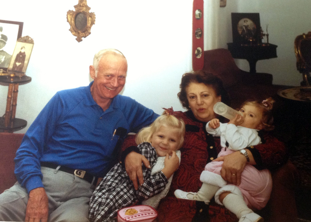 Bill, his wife Lucy and two of his three granddaughters, Crystel and Lauren.
