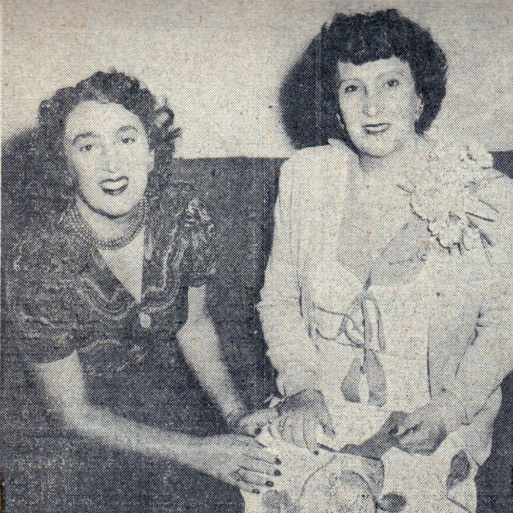 Lucy Cannon (who was pregnant with her son Fred) and her mother Tina de Forcade.
