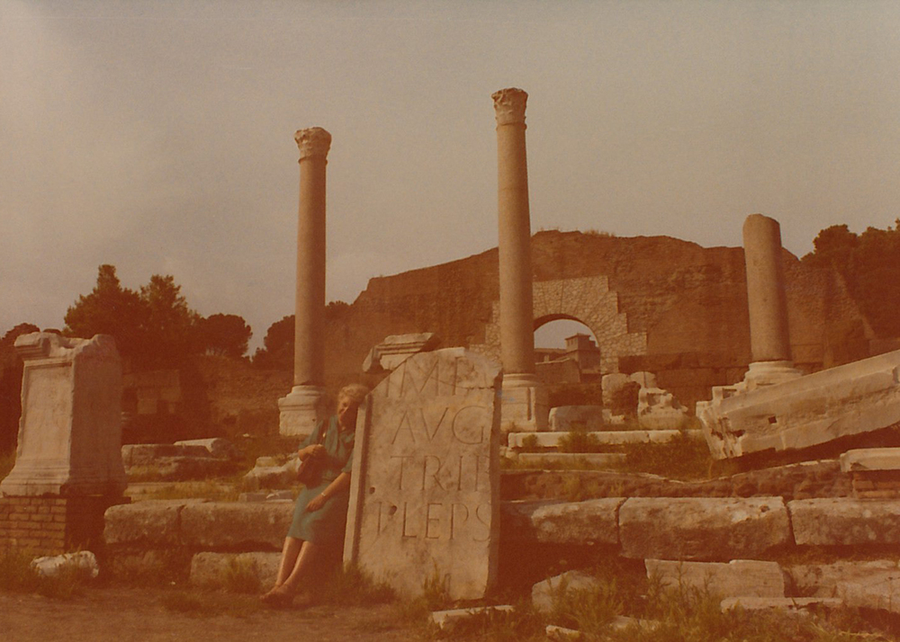My beautiful grandmother Joan at Rome's Forum.