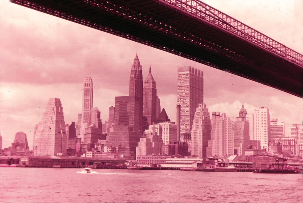 New York City from below the Brooklyn Bridge, 1964. If you'd like to see the above photo in the 21st century, check out   this   shot. Looks a little different, huh?