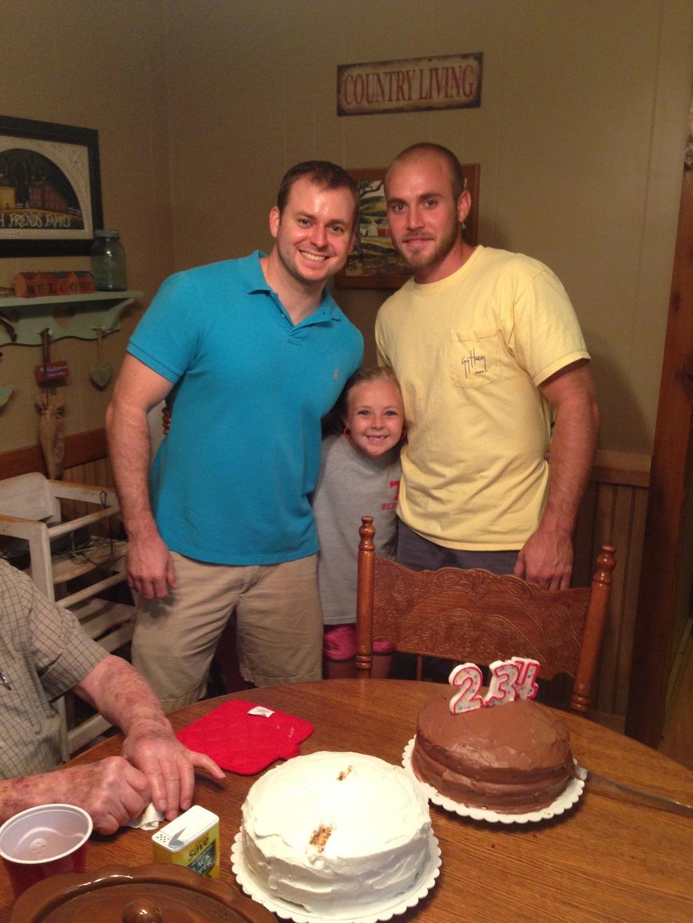 Jonathan, Eliza and Anthony, July 2013.