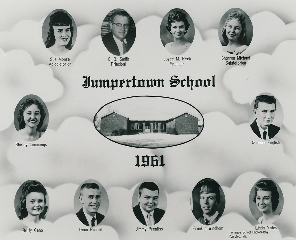 The Jumpertown High School Class of 1961. I graduated from Booneville High School in 2002, and Torrance School Photography took our class photographs as well!
