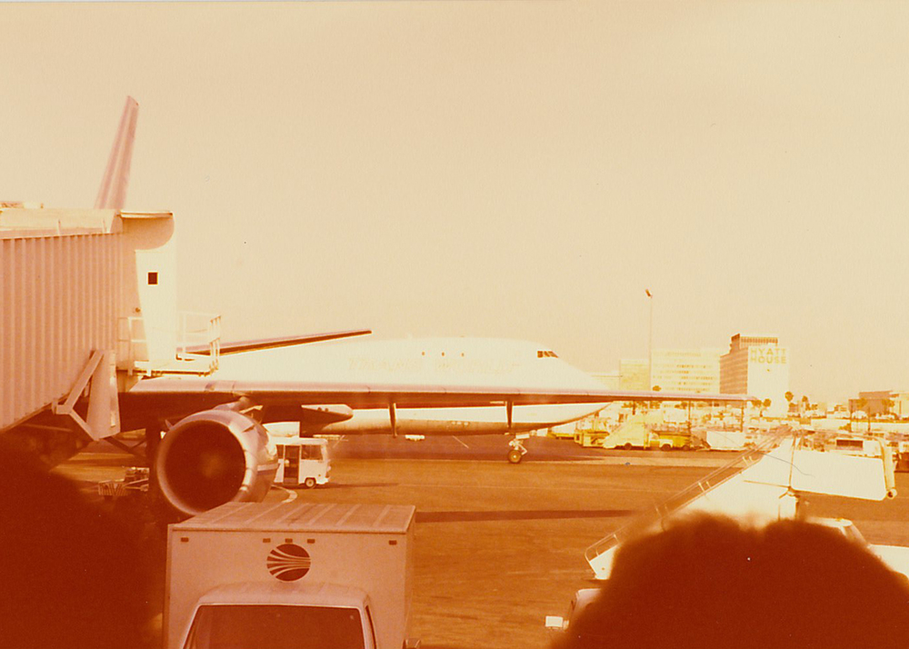 LAX around 1980. Photo by my grandfather, Sid.