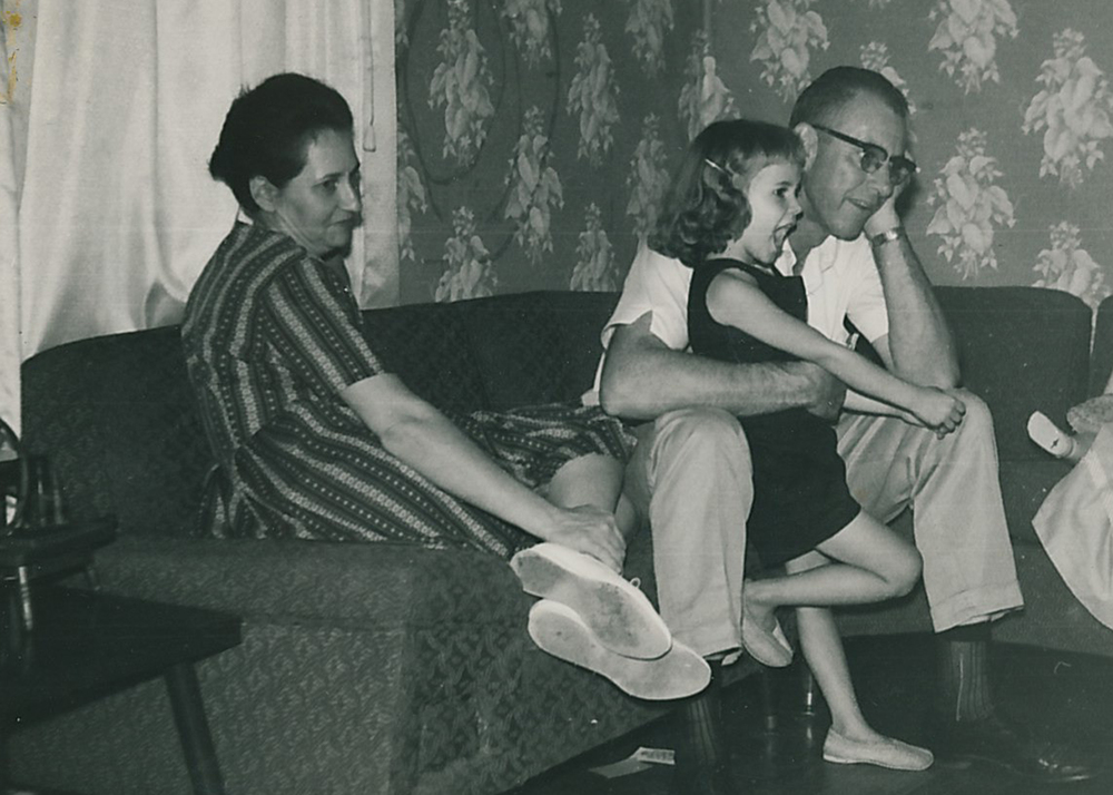 Denise and her parents, Clovis and Arletta Geno.