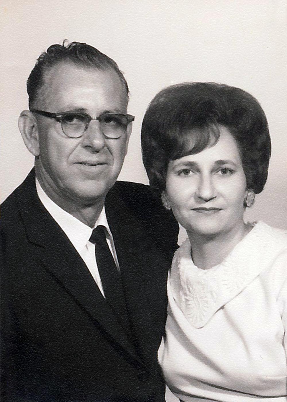 Clovis and Arletta Geno, Denise's parents.
