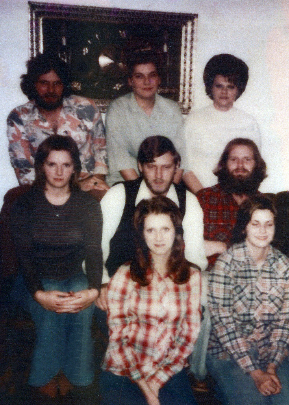 Denise (bottom right) and most of her siblings.
