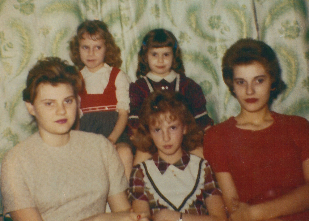 Denise (top right) and her sisters.
