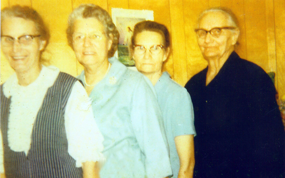 Denise's grandmother, Mommie Barnes (third for left), and her sisters (Sarah Gann, Myrtle Thorton, Pearl Barnes and Mary Gann).