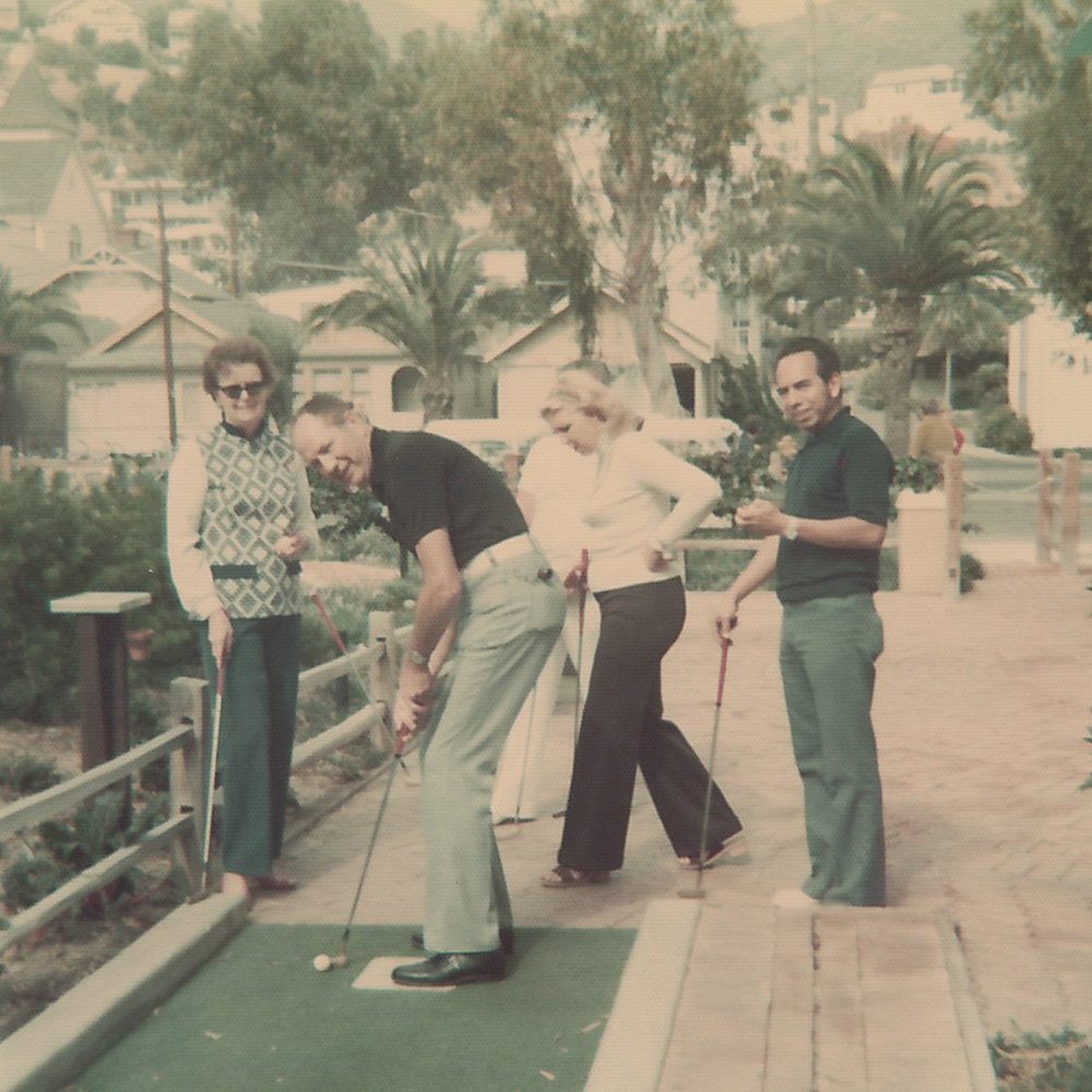 Awesome '70s pants, palm trees and putt-putt golf.