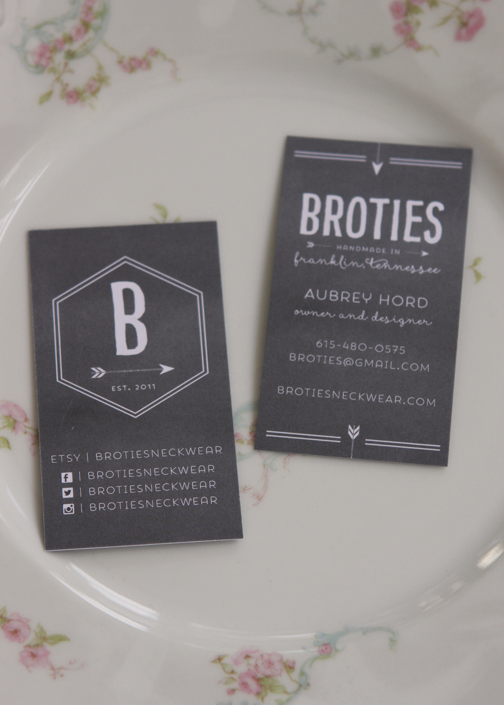BroTies business cards.