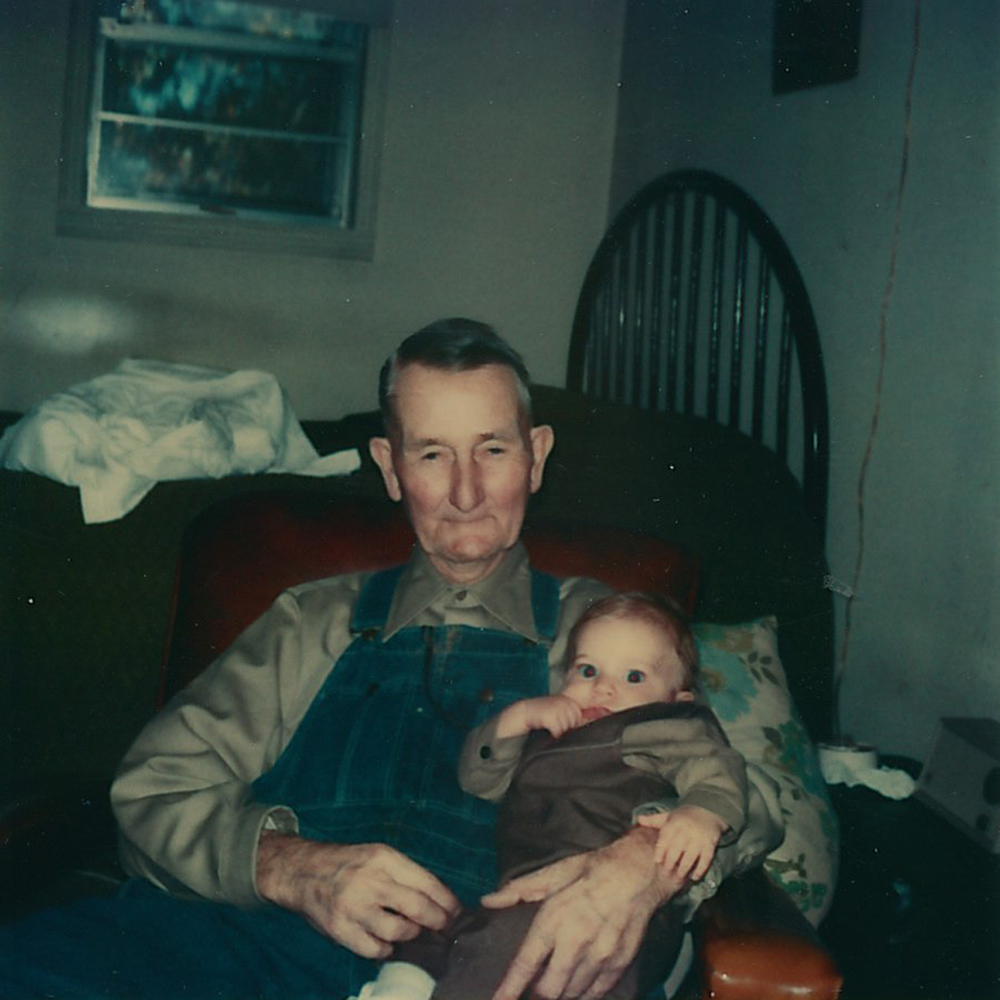 Jonathan Gregory Hardin and his great-grandfather Clovis Yates.