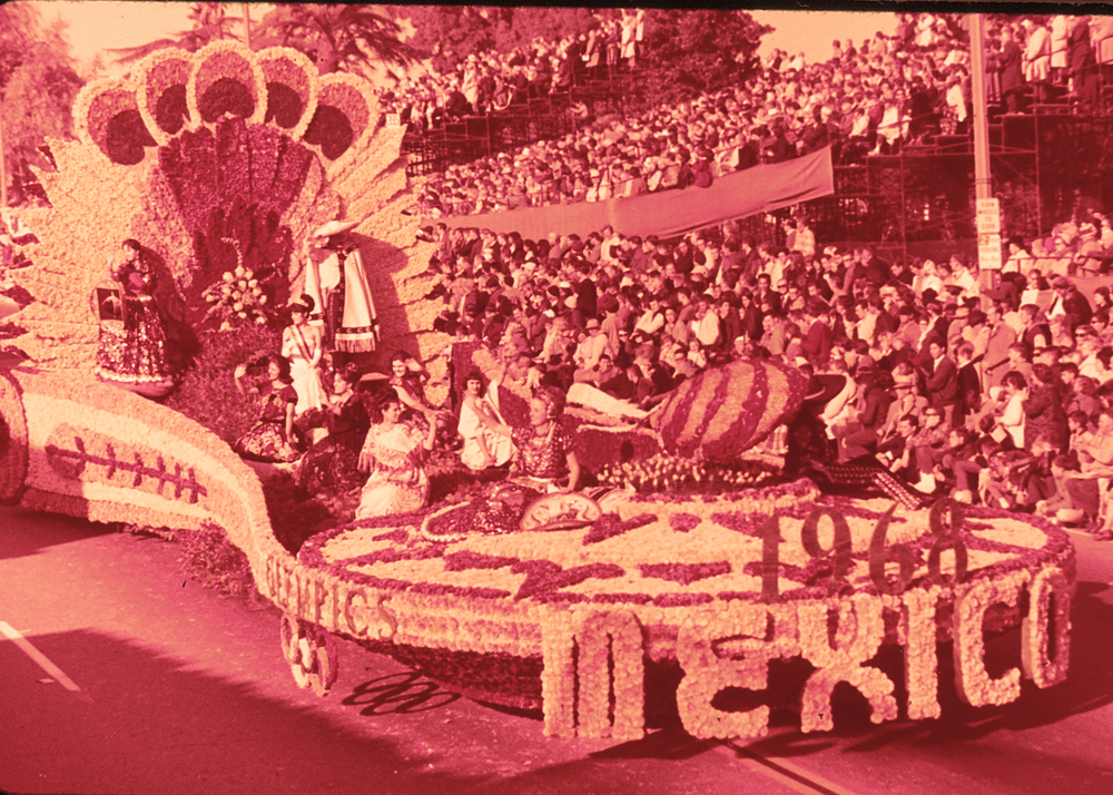 The 1968 Olympics Mexico City float from the 1965 Tournament of Roses parade in Pasadena, California.