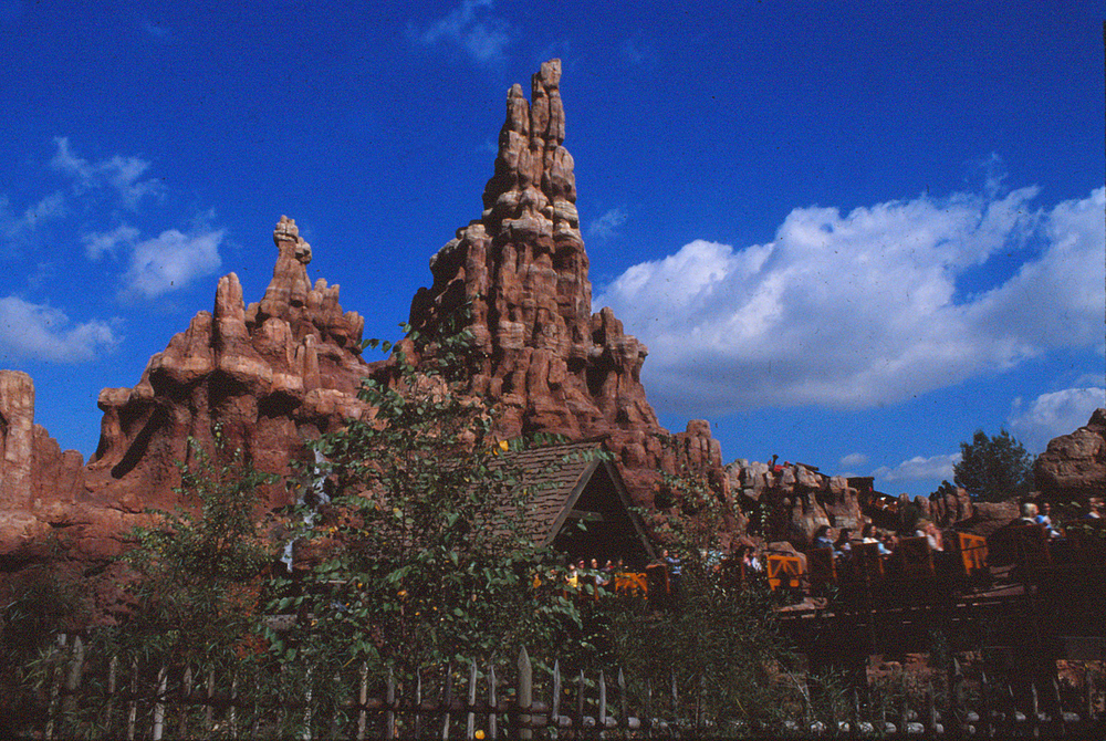 Thunder Mountain at Disneyland in Anaheim, California in the late 1970s.
