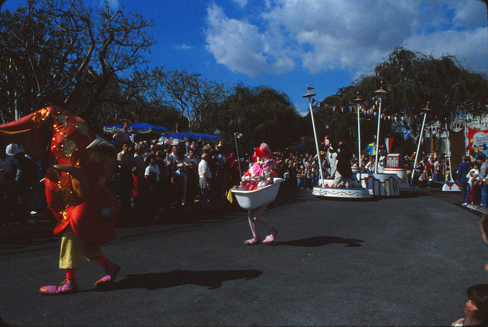 Disneyland Christmas parade.