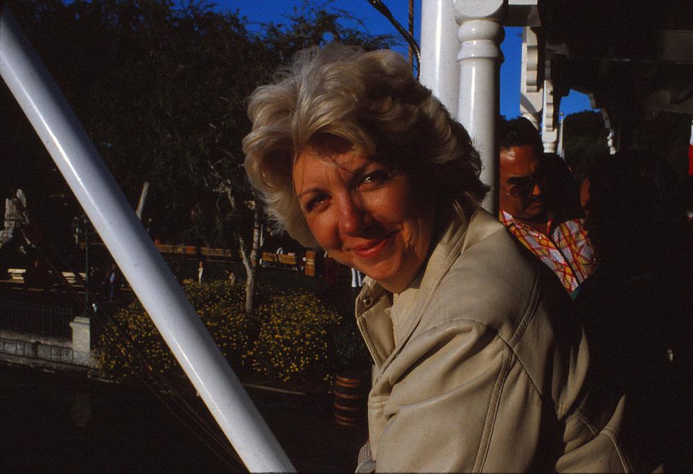 My grandma Joan at Disneyland in the late 1970s.