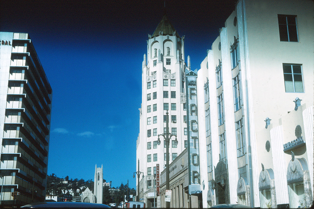 The historic Max Factor building in Hollywood around 1960. The building is now home to the  Hollywood Museum .