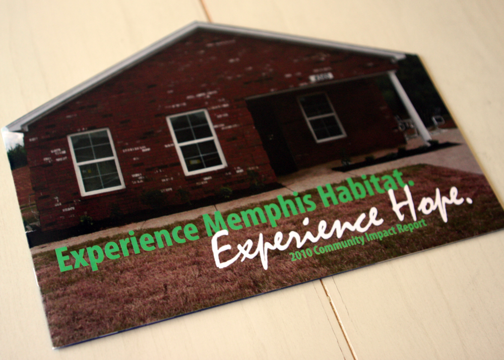 A Habitat for Humanity of Greater Memphis Annual Report I designed during my time with the organization.