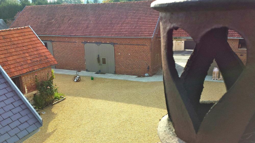 Brasserie vue depuis la cheminée