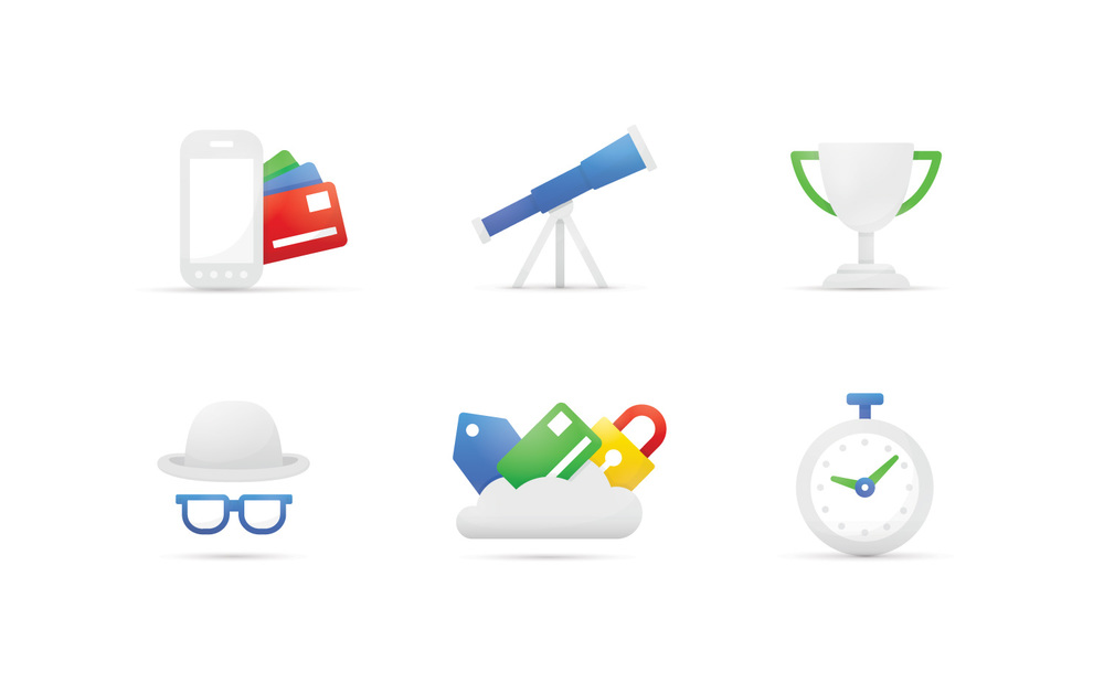 Google Wallet Illustrations for the Google Wallet identity.