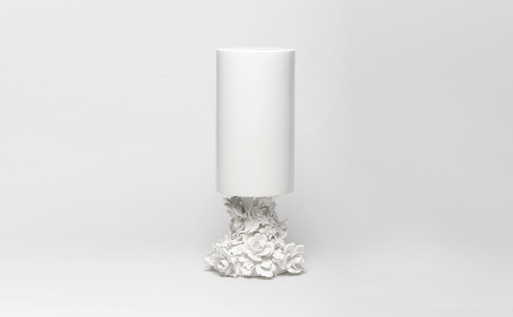 Vase Flower Ceramic object inversing the relationship between vase and flower.