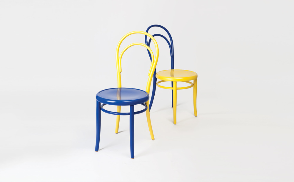 Duo Tone  Customised Thonet No. 14 chairs for Le Bon Marché, Paris.