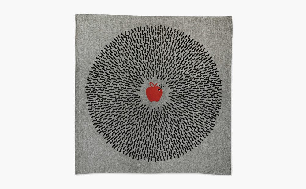 The Big Apple  Handkerchief design for Collective Futures NYC.