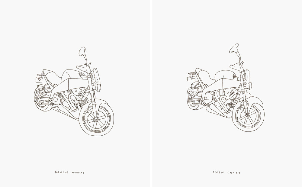 L'Objet Produit (The Produced Object) 220 drawings made under a strict system of hand-rendered replication.
