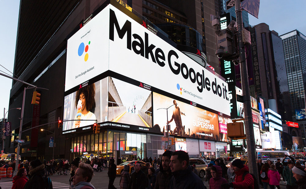 Make Google do it  Art direction and design for the Google Assistant's 2018 out-of-home campaign.