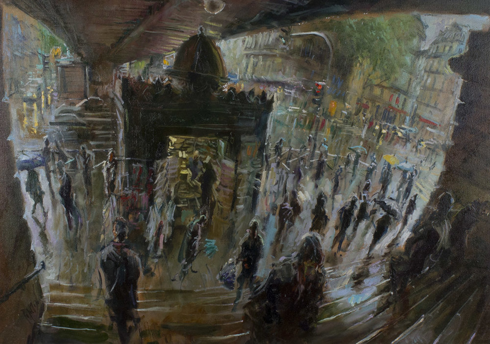 Pouring Down Into the Metro by Rob Pointon 2016