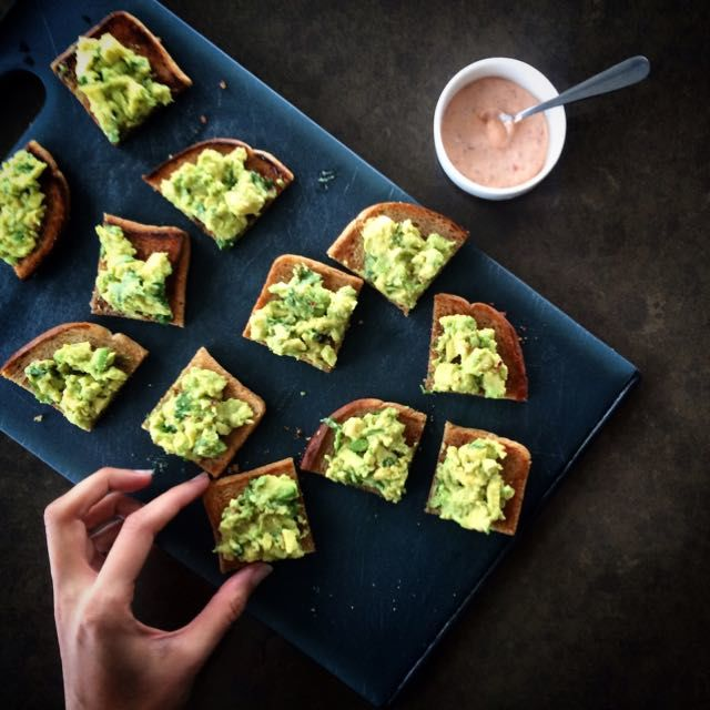 Shuchi Nice & easy - spiced Avo Toasties to kick off the first Meatless Monday of 2015!