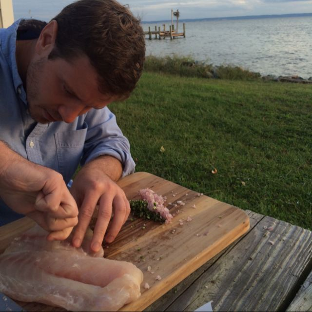 Tara @MichaelHalle makin that ceviche on #cobbisland.