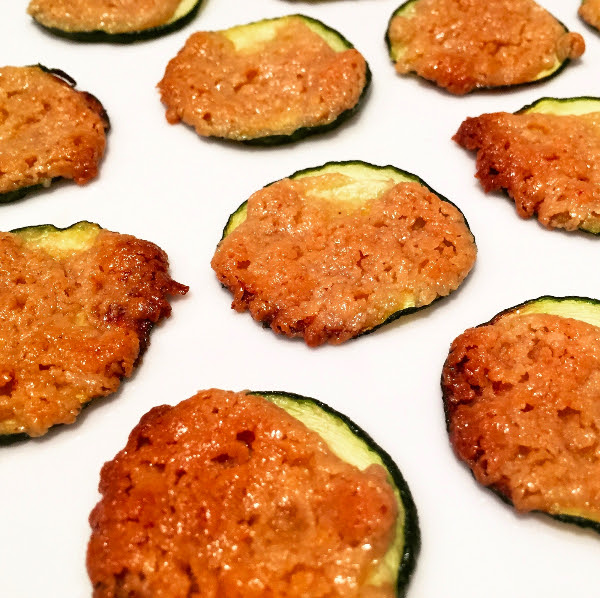 Zucchini Rounds are savory and sweet! Ingredients: Zucchini, Coconut Oil, Garlic, Maple Syrup, Tahini, Sea Salt Posted by: annefood