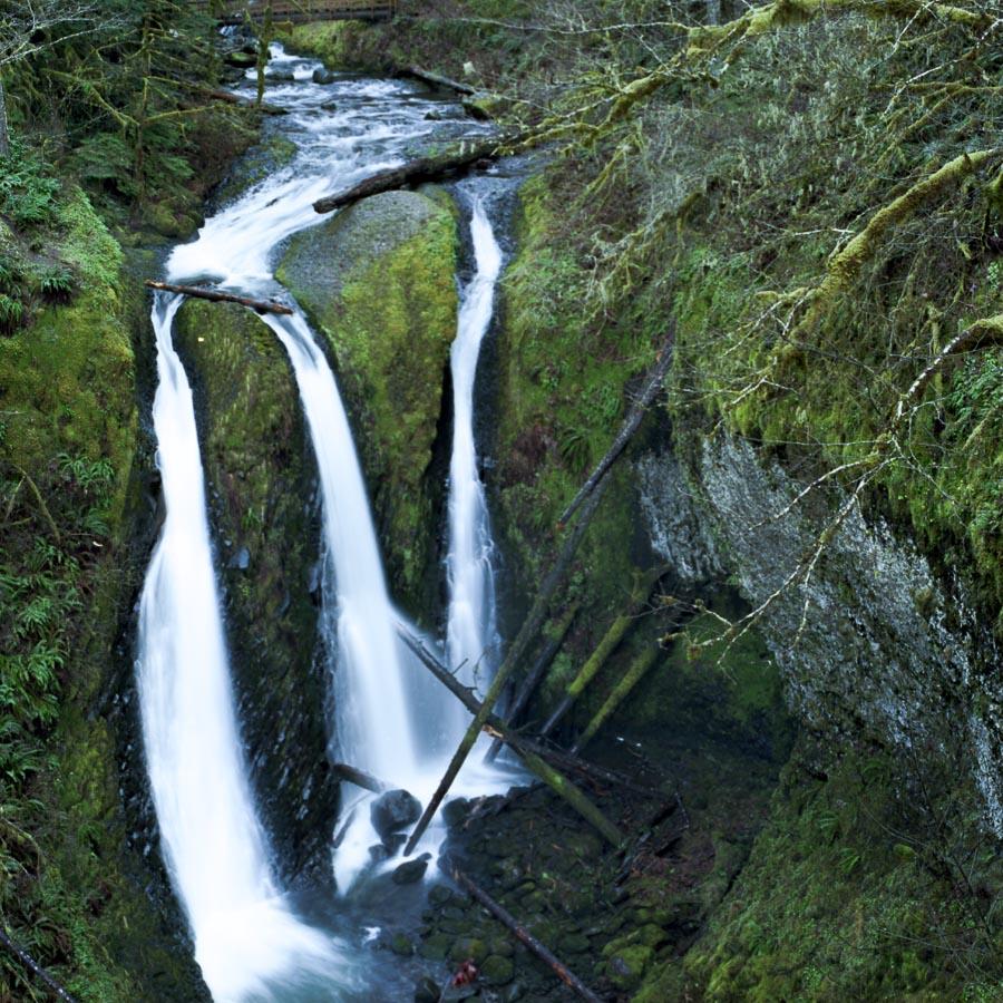 Triple Falls on the Oneota Creek Trail