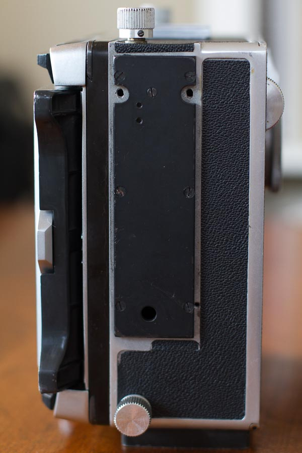 Rangefinder side, with RF removed and plate added